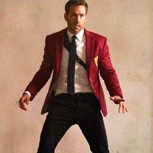 Ryan Reynolds Red Notice 2021 Red Blazer