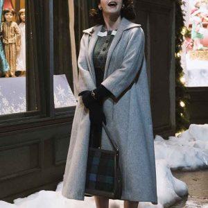 Rachel Brosnahan The Marvelous Mrs Maisel Grey Trench Coat