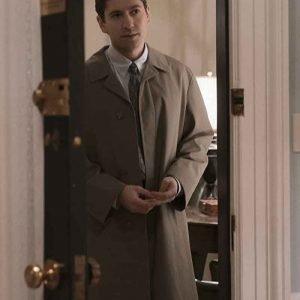 Michael Zegen The Marvelous Mrs. Maisel Brown Trench Coat