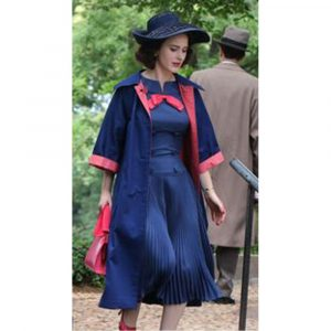 Rachel Brosnahan TV Series The Marvelous Mrs. Maisel Miriam Maisel Blue Coat