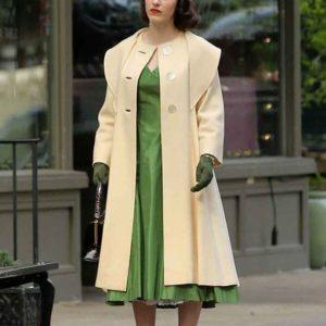 Rachel Brosnahan The Marvelous Mrs. Maisel Beige Trench Coat
