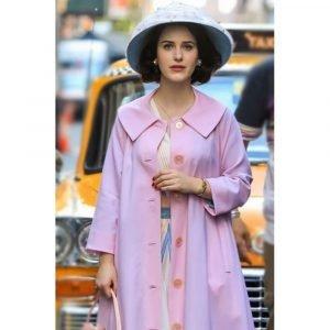 Rachel Brosnahan The Marvelous Mrs. Maisel Miriam Maisel Light Pink Coat