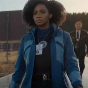 WandaVision Monica Rambeau Jacket Teyonah Parris Blue Hooded Jacket