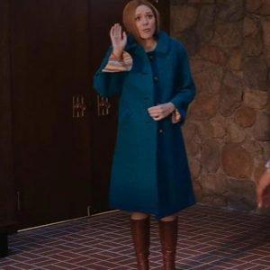 Elizabeth Olsen Tv Series WandaVision Wanda Maximoff Blue Coat
