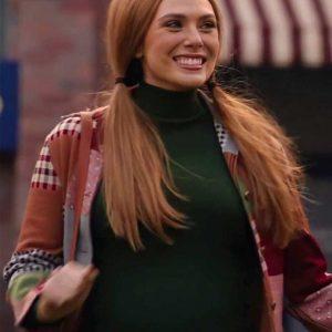 Elizabeth Olsen WandaVision Wanda Maximoff Printed Jacket