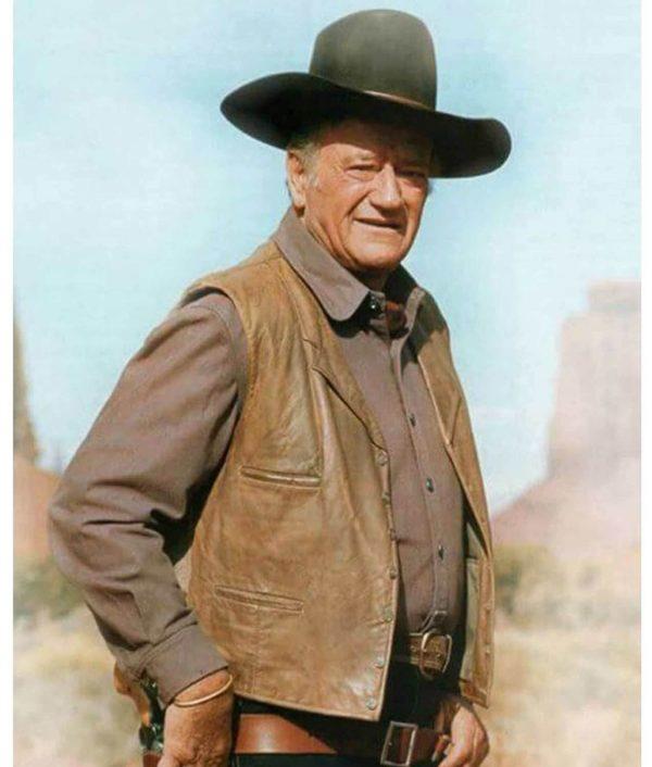 The Cowboys John Wayne Leather Vest