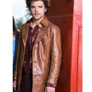 Andrew Lee Potts Alice Hatter Tan Brown Leather Jacket