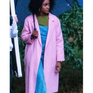 Louise Behind Her Eyes 2021 Simona Brown Pink Trench Coat