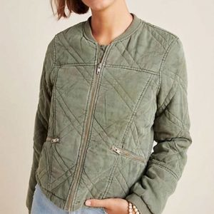 Simone Brown TV Series Behind Her Eyes Louise Green Quilted Bomber Jacket