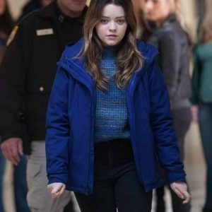 Grace Sullivan TV Series Big Sky Jade Pettyjohn Blue Cotton Jacket
