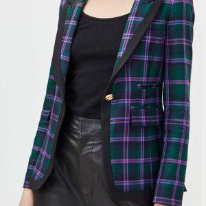 Kelly Kruger TV Series Bold and the Beautiful Eva Plaid Blazer