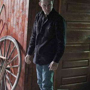 Brian Geraghty Big Sky Ronald Pergman Black Cotton Jacket