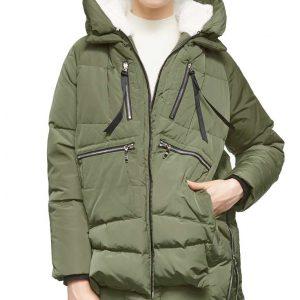 Heartland Season 14 Ava Tran Green Parker Hooded Puffer Jacket