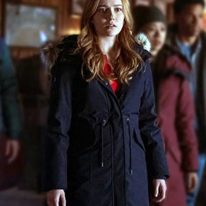 Kennedy McMann TV Series Nancy Drew Blue Parka Coat