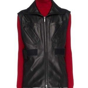 Sydney Burnett L.A.'s Finest S02 Gabrielle Union Black Leather Vest