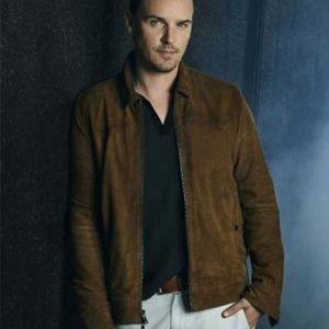 Ryan Hudson Nancy Drew Riley Smith Brown Suede Leather Jacket