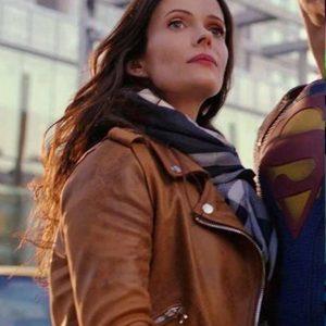 Lois Lane Superman and Lois Elizabeth Tulloch Brown Leather Jacket
