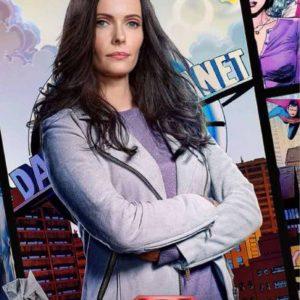 Elizabeth Tulloch Tv Series Superman & Lois Lane Suede Leather Jacket
