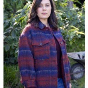 Jill Halfpenny The Drowning 2021 Jodie Plaid Wool-Blend Coat