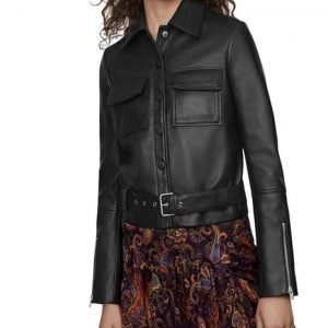 Jill Halfpenny The Drowning S01 Jodie Black Leather Jacket