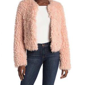 Laya DeLeon Hayes The Equalizer 2021 Delilah McCall Pink Fur Jacket