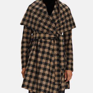 Liza Lapira The Equalizer 2021 Melody Chu Blanket Houndstooth Coat