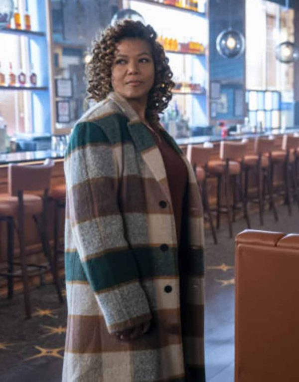 Queen Latifah The Equalizer 2021 Robyn McCall Trench Checked Coat