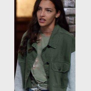 Kayla Compton TV Series The Flash Allegra Garcia Green Jacket