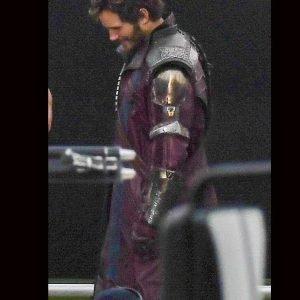 Peter Quill Thor Love Thunder 2022 Chris Pratt Leather Coat