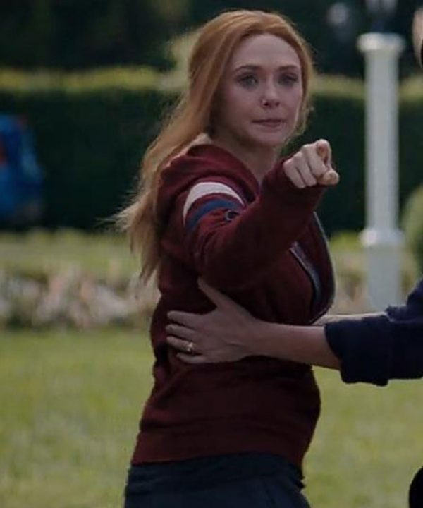 Elizabeth Olsen WandaVision Hoodie Wanda Maximoff Red Hoodie