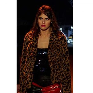 Alexandra Daddario 1 Night In San Diego Kelsey Leopard Print Jacket