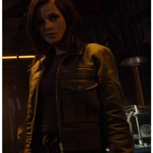 Brooke Williams Agents of Shield Window of Opportunity Snowflake Black Leather Jacket