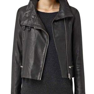 Ming-Na Wen Agents of Shield Melinda May Black Leather Biker Jacket