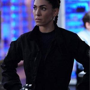 Elena Rodriguez Agents of Shield Natalia Cordova Buckley Black Cotton Jacket
