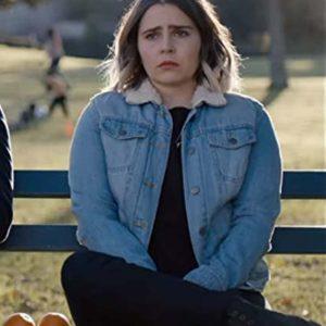 Mae Whitman TV Series Good Girls Annie Marks Blue Denim Jacket