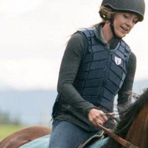 Amber Marshall TV Series Heartland Amy Fleming Black Leather Vest