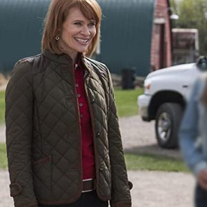 Kendra TV Series Heartland Lisa Ryder Green Quilted Jacket