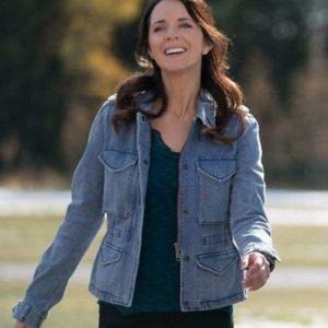 Michelle Morgan TV Series Heartland Lou Fleming Blue Denim Jacket