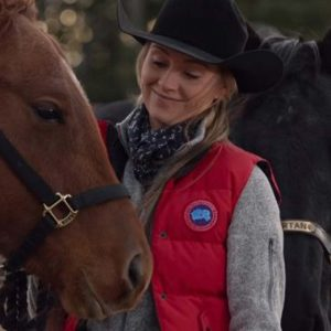 Amber Marshall Heartland Season 14 Amy Fleming Red Puffer Vest
