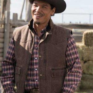 Nathaniel Arcand TV Series Heartland Scott Cardinal Brown Cotton Vest