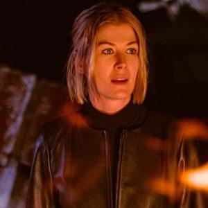 Marla Grayson I Care a Lot 2021 Rosamund Pike Black Leather Jacket