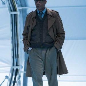 Silas Stone TV Series Justice League Joe Morton Brown Trench Coat