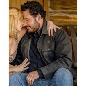 Cole Hauser TV Series Yellowstone S04 Rip Wheeler Leather Jacket