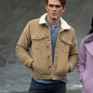 K.J. Apa TV Series Riverdale Archie Andrews Brown Cotton Jacket