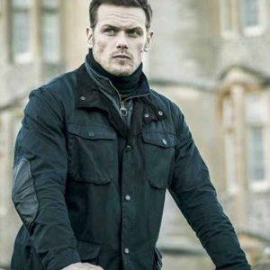 Sam Heughan SAS Red Notice (2021) Tom Buckingham Black Jacket