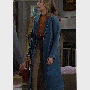Hope Logan TV Series The Bold and the Beautiful Annika Noelle Blue Denim Coat
