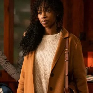 Aliya Ekuban The Equalizer (2021) Fedna Jacquet Brown Trench Coat