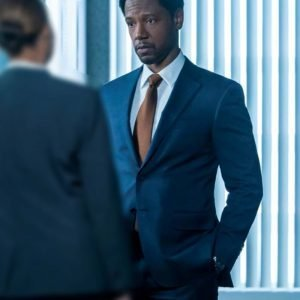 Tory Kittles The Equalizer (2021) Detective Marcus Dante Blue Blazer