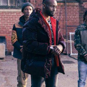 Jayson Wesley The Equalizer 2021 Kenya Bell Black Puffer Hooded Jacket