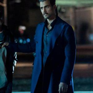 Michel Deveaux The Equalizer (2021) Thomas Beaudoin Blue Mid-Length Coat